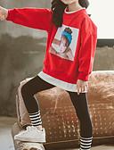 povoljno Majice s kapuljačama i trenirke za djevojčice-Djeca Djevojčice Osnovni Kolaž Dugih rukava Regularna Normalne dužine Komplet odjeće Plava
