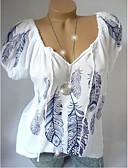 abordables T-shirts Femme-Tee-shirt Grandes Tailles Femme, Géométrique Imprimé Ample Blanche