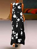 זול שמלות מקסי-צווארון עגול קצר מקסי פרחוני - שמלה סווינג בגדי ריקוד נשים