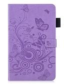 Недорогие Чехол Samsung-чехол для samsung galaxy tab a2 10.5 (2018) кошелек / визитница t590 / с подставкой, чехлы для тела сплошной цвет / бабочка искусственная кожа
