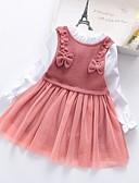 povoljno Kompletići za dječake-Djeca Djevojčice Color block Kolaž Haljina Dusty Rose