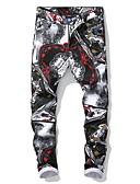 זול טישרטים לגופיות לגברים-בגדי ריקוד גברים סגנון רחוב צ'ינו מכנסיים - דפוס שחור US32 / UK32 / EU40 US34 / UK34 / EU42 US36 / UK36 / EU44