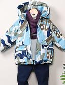 povoljno Jakne i kaputi za dječake-Djeca Dječaci Osnovni Geometrijski oblici Pernata i pamučna podstava Svjetloplav