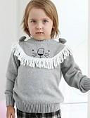 povoljno Džemperi i kardigani za dječake-Djeca Dječaci Ulični šik Print Dugih rukava Džemper i kardigan Sive boje