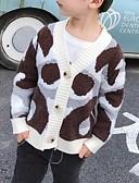 povoljno Džemperi i kardigani za dječake-Djeca Dječaci Osnovni Print Dugih rukava Džemper i kardigan Blushing Pink