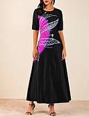 povoljno Maxi haljine-Žene A kroj Haljina Color block Maxi