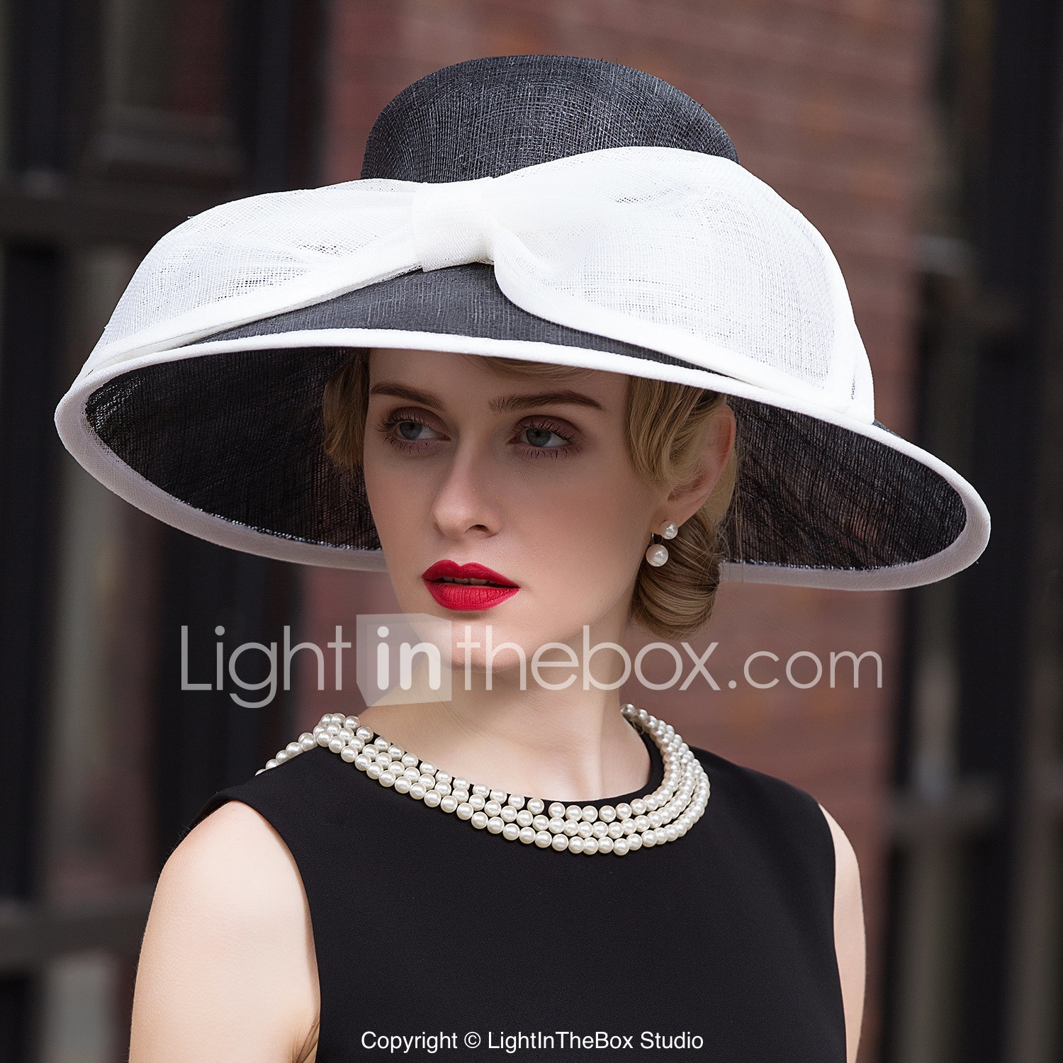 Flax Hats With 1 Wedding Special Occasion Headpiece