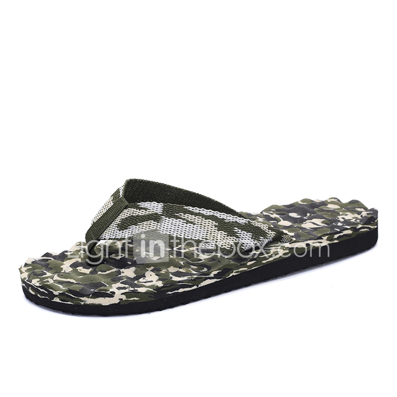 a212cc9ba Men s Slippers   Flip-Flops Comfort Light Soles Spring Summer Fall Fabric  Walking Shoes Casual Outdoor Flat Heel Gray Yellow Blue Flat  05607377