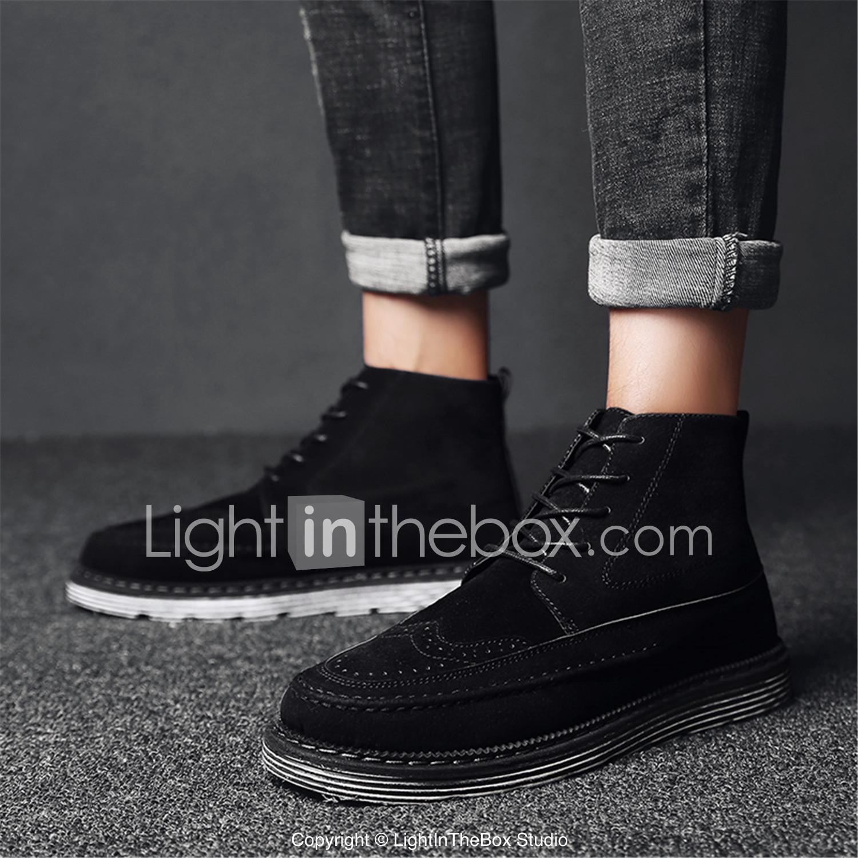 Ante Confort Otoño Zapatos Casual Negro Botas Hombre Marrón Gris OEq6Ax 48fcad11c6b2