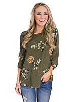 Χαμηλού Κόστους Γυναικείες Μπλούζες-Γυναικεία Πουκάμισο Βασικό Φλοράλ Στάμπα 395da4bf562