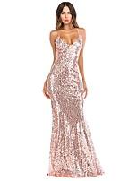 7906aa9401cf6 رخيصةأون فساتين للنساء-فستان نسائي ثوب ضيق أنيق ترتر طويل للأرض لون سادة