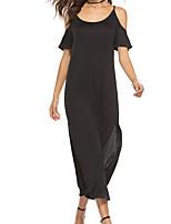 4e2b1a468a2413 voordelige Maxi-jurken-Dames Standaard Schede Jurk - Effen Midi