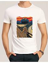 48ffee4d7cf2 Χαμηλού Κόστους Αντρικές Μπλούζες-Ανδρικά T-shirt Κινούμενα σχέδια  Στρογγυλή Λαιμόκοψη Λευκό L