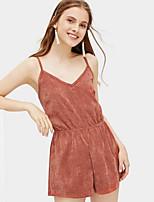 eee23a0db163 billige Jumpsuits og rompers til damer-Dame Basale Rød Sparkedragter