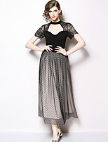 9a5128c757e5 billige Romantiske blonder-Dame Elegant A-linje Kjole - Ensfarvet