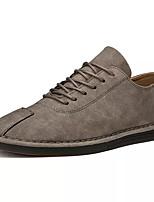 9c741a4d12 baratos Oxfords Masculinos-Homens Sapatos Confortáveis Couro Ecológico  Primavera Casual Oxfords Use prova Preto