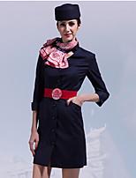 518184e87 baratos Fantasias de Profissões-Comissária de bordo Adulto Mulheres  Vestidos Fantasias de Cosplay Para Algodão