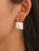 01df2be48 cheap Earrings-Women's Twisted Stud Earrings Gold Plated Earrings  Shell Simple