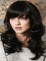 voordelige -Human Hair Capless Pruiken Echt haar Gekruld / Natuurlijk golvend Gelaagd kapsel Stijl Modieus Design / nieuw / Afro-Amerikaanse pruik Zwart Lang Zonder kap Pruik Dames / Allemaal