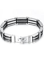 5d4ee75e1 levne Pánské náramky-Pánské Link / řetězec Náramek Titanová ocel Vertikálně  Evropský Náramky Šperky Stříbrná
