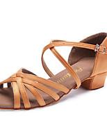 50e0377e6e0 Χαμηλού Κόστους Παιδικά παπούτσια χορού-Κοριτσίστικα Παπούτσια χορού λάτιν  Σατέν Τακούνια Πυκνό τακούνι Παπούτσια Χορού
