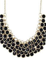 4096ce4c8e23 abordables Joyas  amp  Relojes-Mujer Fornido Collar Moda Cool Encantador  Blanco Negro 47 cm