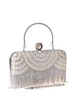 ac8fcf6cf900 Недорогие Клатчи и вечерние сумочки-Жен. Мешки Полиэстер Вечерняя сумочка С  кисточками Сплошной цвет