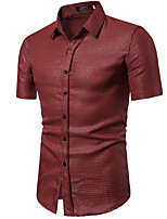 53d8d5823eb3f7a Недорогие Мужские рубашки-Муж. Рубашка Однотонный Пурпурный L