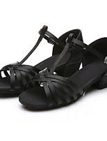 4869ec292e5 Χαμηλού Κόστους Παιδικά παπούτσια χορού-Κοριτσίστικα Παπούτσια χορού λάτιν  Σατέν Τακούνια Αγκράφα Πυκνό τακούνι Παπούτσια