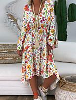 Χαμηλού Κόστους -Γυναικεία Βασικό Θήκη Φόρεμα - Γεωμετρικό Ασύμμετρο