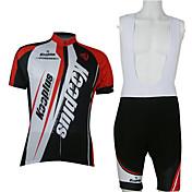 Kooplus Maillot de Ciclismo con Shorts Bib Hombre Unisex Manga Corta Bicicleta Sets de Prendas Dispersor de humedad Secado rápido