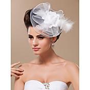 チュールの魅力的なヘッドピースの結婚式のパーティーエレガントな女性のスタイル