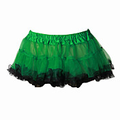 Amaloli Campesina Lolita Mujer Falda Enagua Cosplay Amarillo Verde Longitud Pequeña