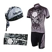 Kooplus Maillot de Ciclismo con Shorts Bib Hombre Manga Corta Bicicleta Petos de deporte/Culotte con tirantes Manguitos Camiseta/Maillot