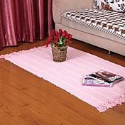elaine 100% alfombra de algodón con dibujos a cuadros (80 * 150 cm, de color rosa)