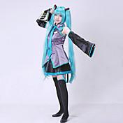 Inspirado por Vocaloid Hatsune Miku Vídeo Juego Disfraces de cosplay Trajes Cosplay Vestidos Retazos Sin Mangas Blusa Falda Mangas