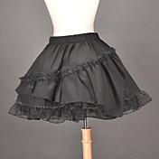Lolita Clásica y Tradicional Clásica Lolita Tela de Encaje Mujer Falda Enagua Cosplay Longitud Mediana