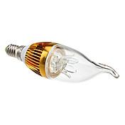 e14 led luces de vela ca35 3 de alta potencia led 270lm blanco cálido 3000k decorativo ac 85-265v