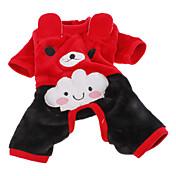 Perro Disfraces Pantalones Ropa para Perro Cosplay Halloween Rojo Rosa Disfraz Para mascotas