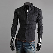 Cuello alto modelo del punto de los hombres del suéter de manga larga