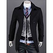 Vのシンプルなファッションラペルジャケット(黒)