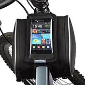 Bolsa para Cuadro de Bici Bolso del teléfono celular 5.5 pulgada A prueba de polvo Pantalla táctil Ciclismo para Samsung Galaxy S4 Iphone