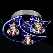 Moderno/Contemporáneo Cristal LED Montage de Flujo Luz Ambiente Para Sala de estar Dormitorio Comedor 110-120V 220-240V Bombilla incluida