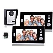 7 pulgadas de video del teléfono de la puerta con la visión nocturna (1camera 2 monitores)