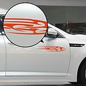Modelo rojo del Flujo Liner decorativo etiqueta engomada del coche