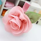 少女の美しい花ヘアクリップ(2個入り)