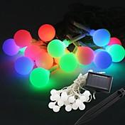 装飾のための20 LEDソーラーパワーボール形状の妖精の文字列ライトランプ電球9メートル