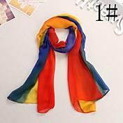 いじめっ子徐々に変化する色のケープサンシフォンスカーフ