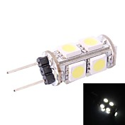 g4 1w 80lm 7000k 9x5050 bombilla led blanco (dc 12v)