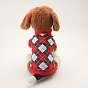 Perro Camiseta Ropa para Perro Transpirable Clásico Casual/Diario Ajedrez Negro Azul Disfraz Para mascotas